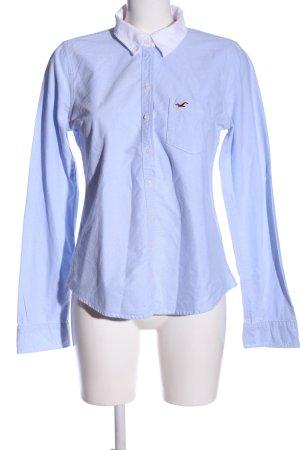 Hollister Langarmhemd blau-weiß Casual-Look