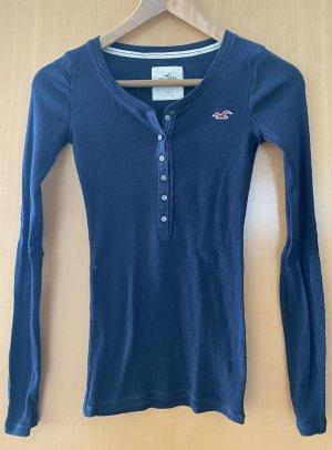 Hollister Langarmshirt in dunkelblau Gr. XS