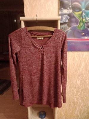 Hollister Shirt Tunic carmine-bordeaux