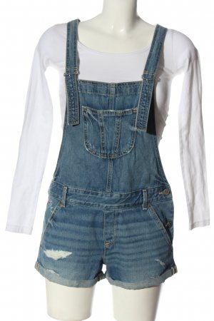 Hollister Bib Denim blue casual look