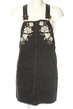 Hollister Overgooier overall rok zwart-wit bloemenprint casual uitstraling