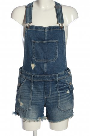 Hollister Bib Shorts blue casual look