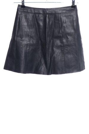 Hollister Lederrock schwarz Casual-Look