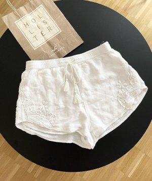 Hollister lockere Shorts mit Spitzendetails Weiß S Neu