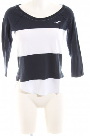 Hollister Longsleeve schwarz-weiß Streifenmuster Casual-Look