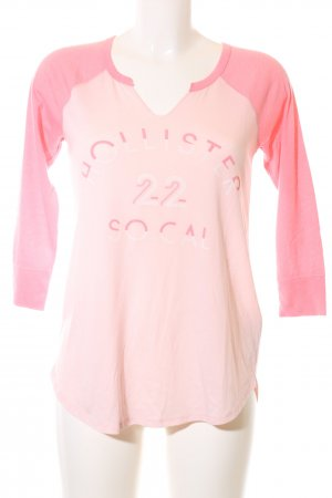 Hollister Longsleeve pink Motivdruck Casual-Look