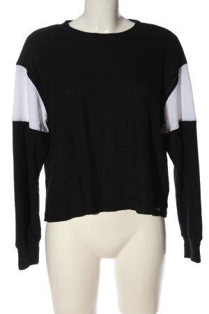 Hollister Longsleeve schwarz-weiß Casual-Look