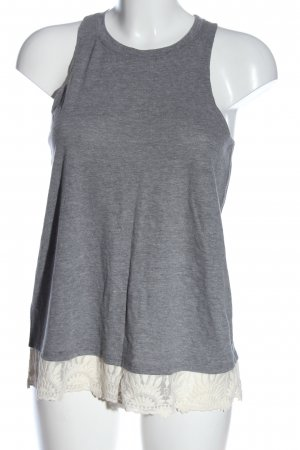 Hollister Long Top light grey flecked casual look