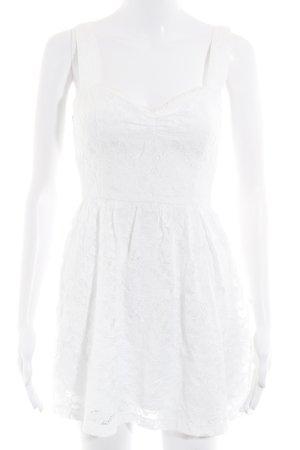 Hollister Longtop weiß florales Muster Romantik-Look