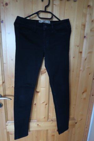 Hollister Spodnie biodrówki czarny