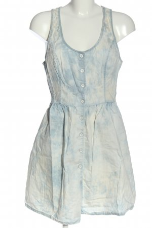 Hollister Minikleid blau-hellgrau Allover-Druck Casual-Look