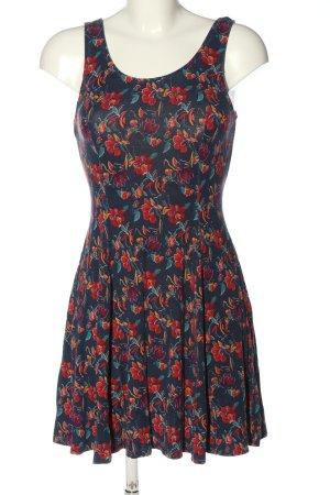 Hollister Minikleid blau-rot Allover-Druck Elegant