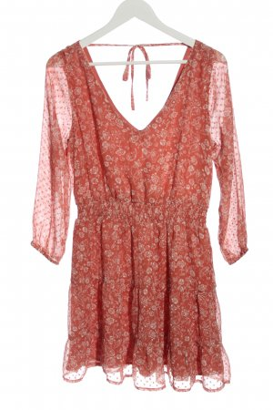 Hollister Mini Dress red-white allover print casual look