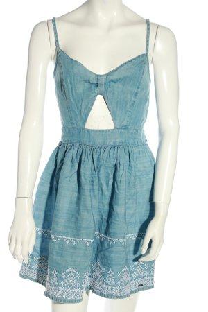 Hollister Minikleid blau-weiß Casual-Look