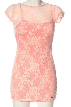 Hollister Minikleid pink Blumenmuster Casual-Look