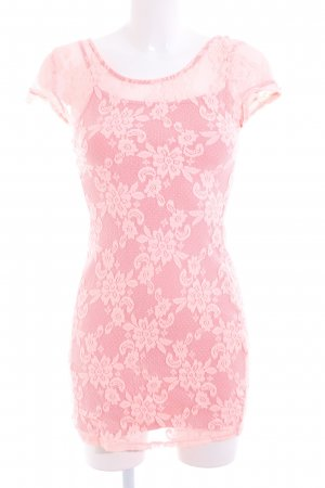 Hollister Minikleid pink Blumenmuster Elegant