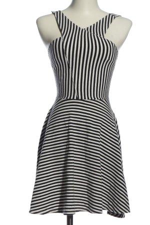 Hollister Minikleid schwarz-weiß Allover-Druck Elegant