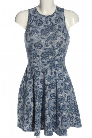 Hollister Minikleid blau-weiß Allover-Druck Casual-Look