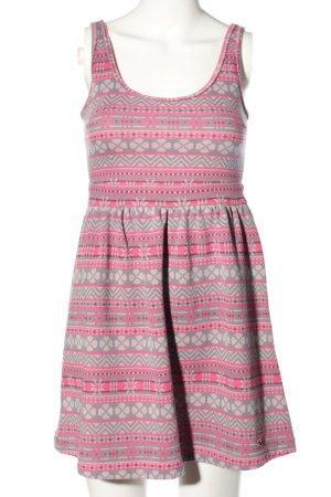 Hollister Minikleid pink-hellgrau Allover-Druck Casual-Look