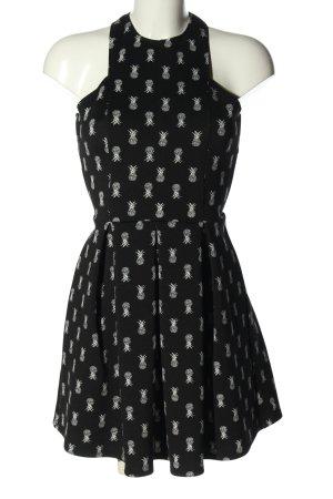 Hollister Minikleid schwarz-weiß Allover-Druck Casual-Look