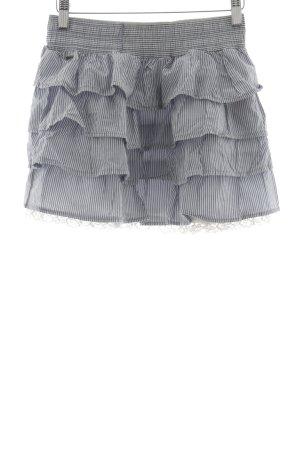 Hollister Minigonna grigio chiaro-bianco motivo a righe stile casual
