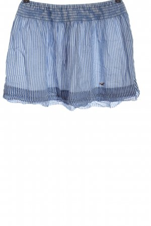 Hollister Minigonna blu-bianco motivo a righe stile casual