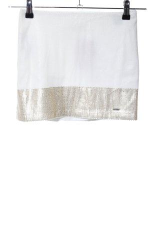Hollister Minigonna bianco-oro effetto bagnato