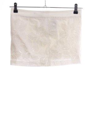 Hollister Minigonna bianco motivo floreale stile casual