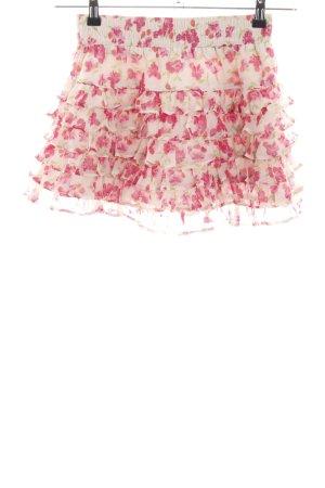 Hollister Minirock weiß-pink Allover-Druck Casual-Look