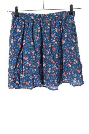 Hollister Minigonna blu-rosa motivo floreale stile casual