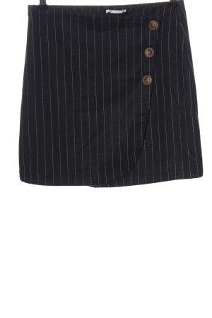 Hollister Minigonna nero-bianco motivo a righe stile casual