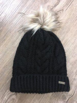 Hollister Mütze Strickmütze Beanie schwarz