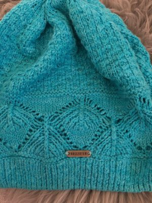 Hollister Cappello all'uncinetto azzurro