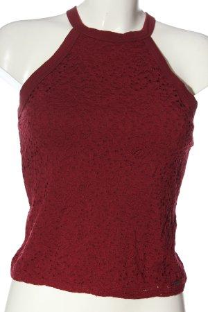 Hollister Top senza maniche rosso modello web stile casual
