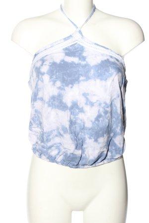 Hollister Haltertop wit-blauw volledige print casual uitstraling
