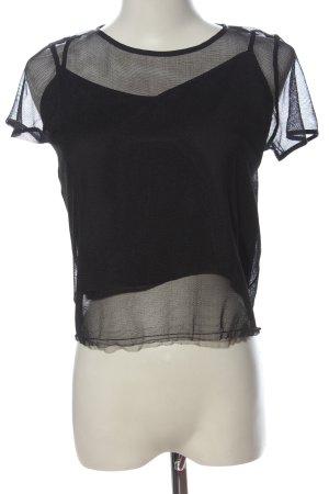 Hollister Mesh Shirt black elegant