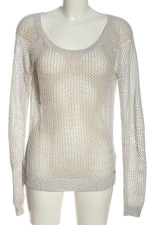 Hollister Camisa de malla gris claro look casual
