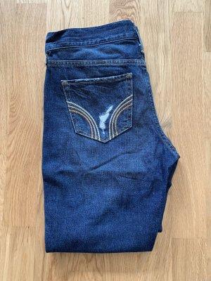 Hollister Spodnie typu boyfriend niebieski