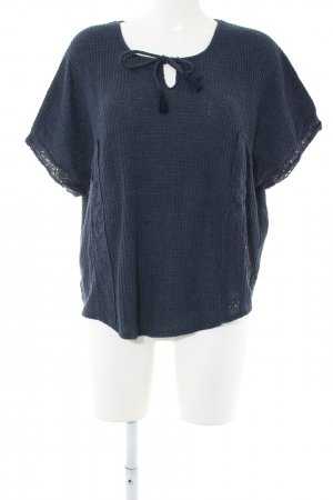 Hollister Oversized Shirt blau Casual-Look