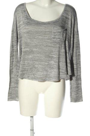 Hollister Oversized Shirt hellgrau meliert Casual-Look