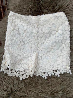 Hollister Pants aus weißer Spitze