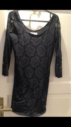 Hollister Lace Dress dark blue