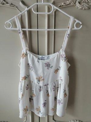 Hollister Peplum Sommer Bluse Top mit Blumen Volant Rüschen