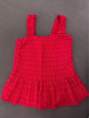 Hollister Top peplo rosso