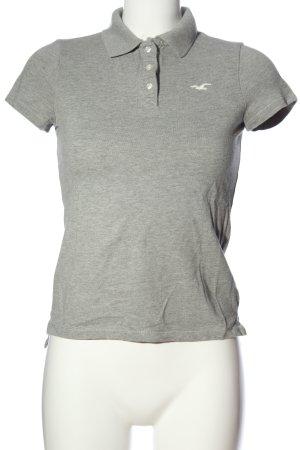 Hollister Polo shirt lichtgrijs gestippeld casual uitstraling
