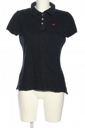 Hollister Camiseta tipo polo negro look casual