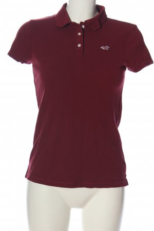 Hollister Camiseta tipo polo rojo look casual