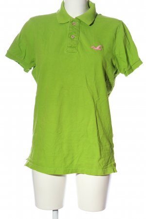 Hollister Polo-Shirt hellorange Motivdruck Casual-Look