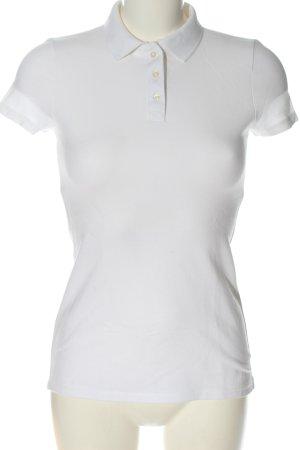 Hollister Polo-Shirt weiß Casual-Look