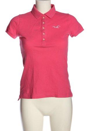 Hollister Polo-Shirt pink Elegant